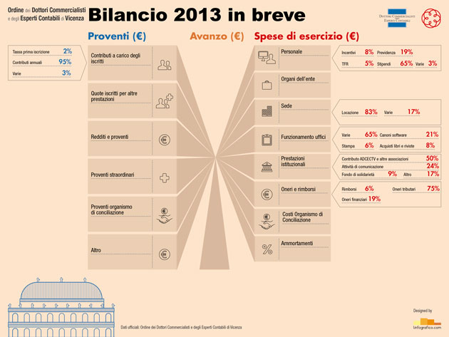 Infografica dati di bilancio 2013 ODCEC Vicenza