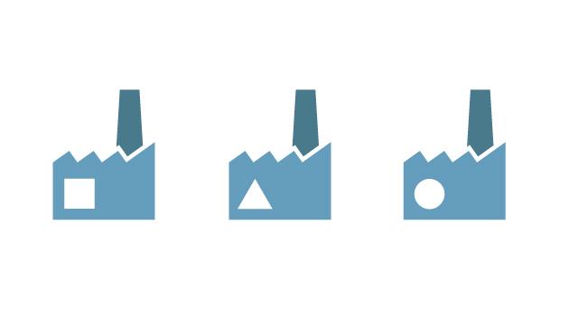 le fabbriche usate nel video Alfa Sistemi